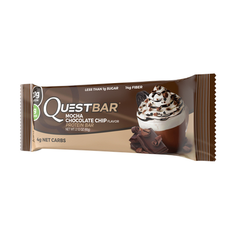 Quest Nutrition Quest Protein Bar Mocha Chocolate Chip (Мокко с шоколадом)