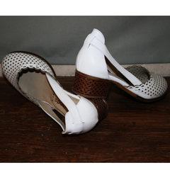 Летние туфли с перфорацией Evromoda 101-6 White.