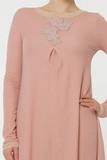 Розовое домашнее платье Valery