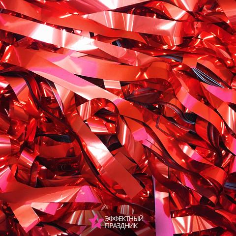 Красная металлизированная бумага