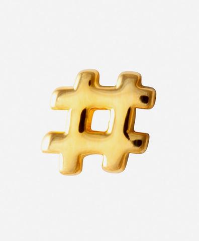 Моно-серьга Hashtag Gold
