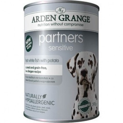 ARDEN GRANGE PARTNERS SENSITIVE FISH & POTATO 0.395 кг- 12шт