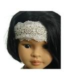 Платье хлопок с кружевом - на кукле. Одежда для кукол, пупсов и мягких игрушек.