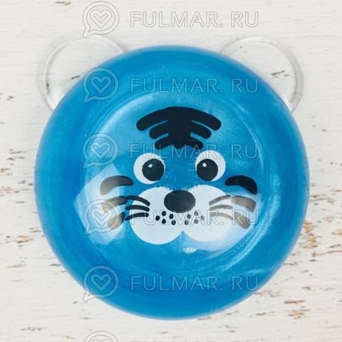 Слайм лизун антистресс Животное Котик Голубой