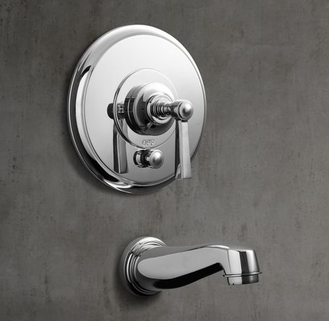 Grafton Lever-Handle Balanced Pressure Tub & Shower Valve & Trim Set with Bath Spout