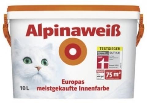 Alpina Alpinaweiss  Альпина Вайс краска белоснежная, матовая краска для стен и потолков
