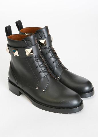 Ботинки на шнуровке Lock VALENTINO