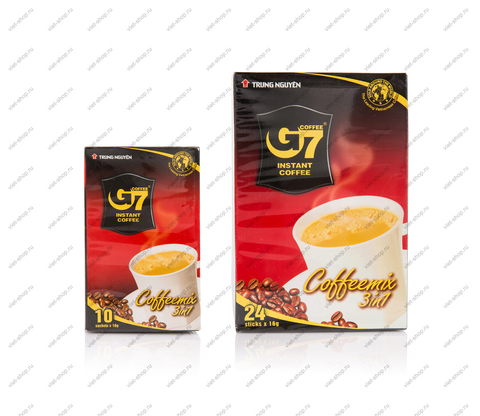 Вьетнамский растворимый кофе G7 3 в 1, картон, 10-24 пак.