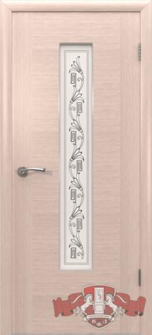 Дверь 8ДО5 (беленый дуб, остекленная шпонированная), фабрика Владимирская фабрика дверей