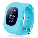 Детские часы с GPS трекером Smart Baby Watch Q50 (Голубой)