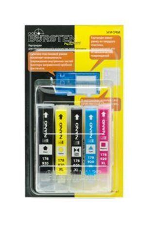 НАНО-картриджи BURSTEN NANO 1 для принтеров HP использующих картриджи №178 и №920 x 5 шт. Без чипов!
