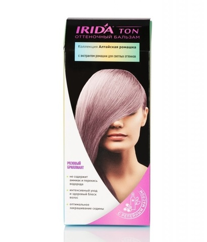 Irida Irida Ton Оттеночный бальзам для окраски волос Розовый бриллиант 2*25мл