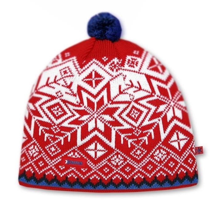 Спортивные шапки Шапка с помпоном непродуваемая Kama Aw41 Red knitted-hat-kama-aw41-windstopper-soft-shell-default__1_.jpg