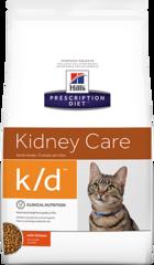 Ветеринарный корм для кошек при заболеваниях почек Hill`s Prescription Diet k/d с курицей