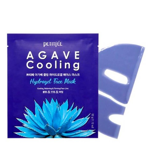 Гидрогелевая маска с агавой Agave Cooling Hydrogel Face Mask от Petitfee