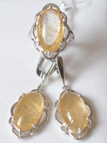Августа  (кольцо + серьги из серебра)