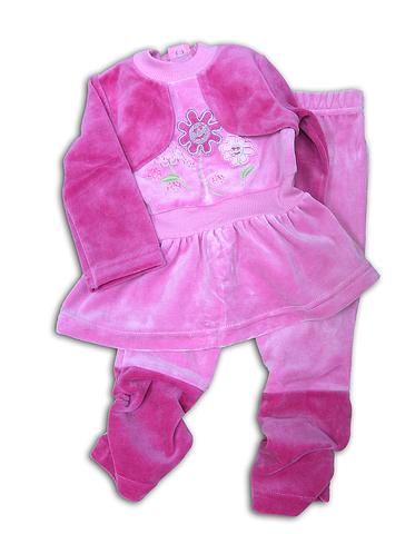 Basia Комплект для девочки велюровый 13-630-055В розовый