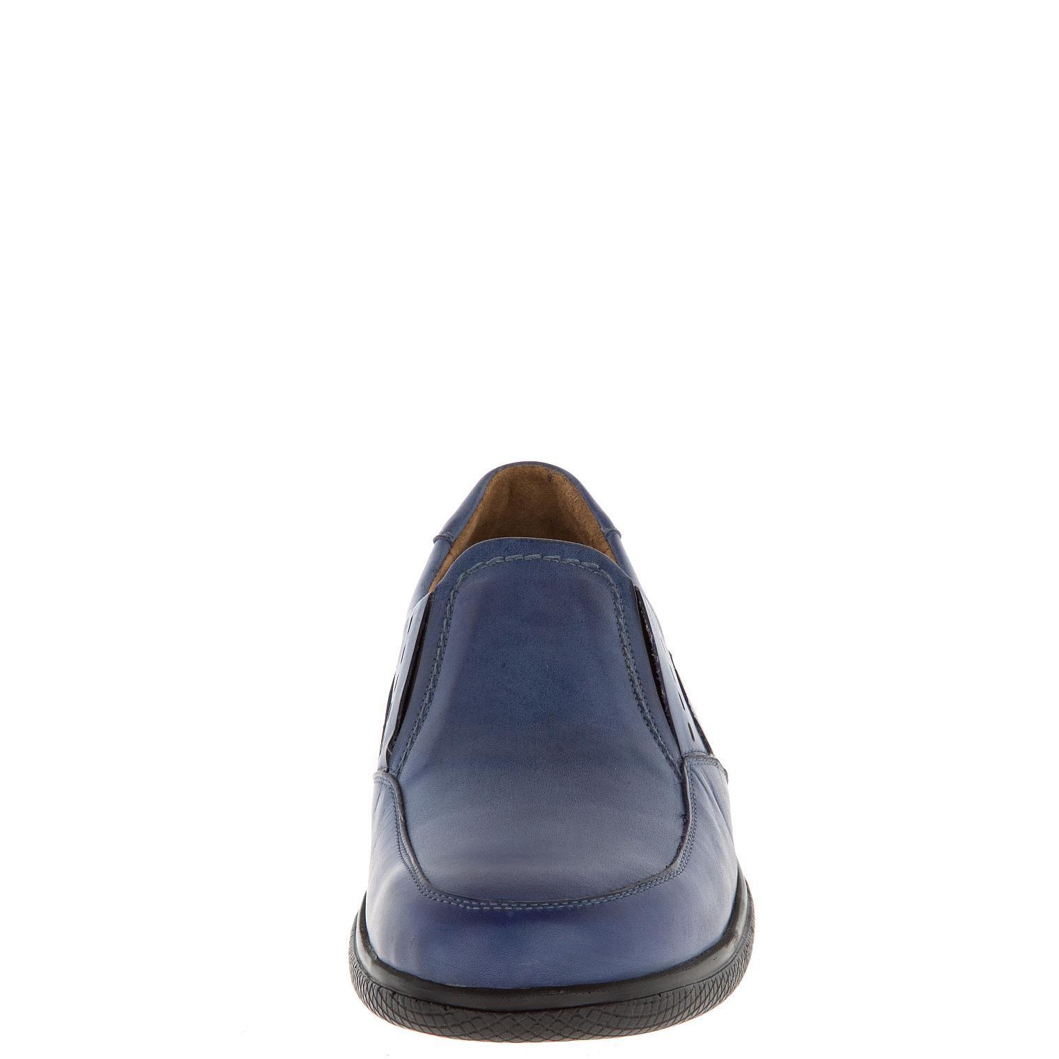 582367 полуботинки мужские синие больших размеров марки Делфино