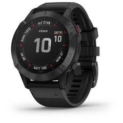 Мультиспортивные часы Garmin Fenix 6 Pro - черные с черным ремешком 010-02158-02