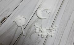 Акриловый декор в ассоритменте. Белый. 1 шт.