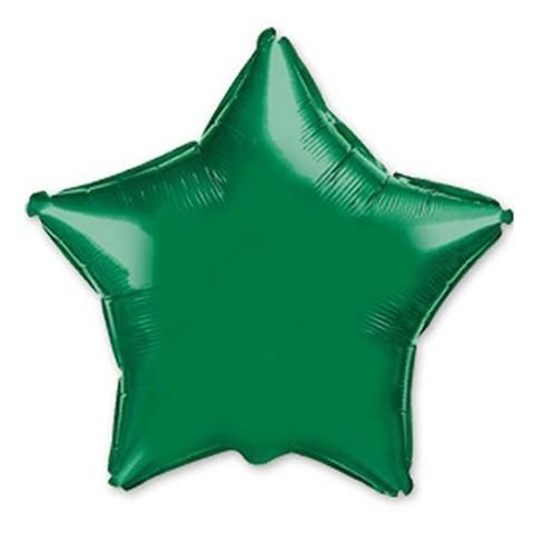 Звезда из фольги зеленая (46 см)