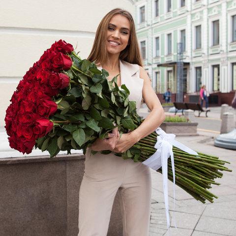 101 роза 90 см #27534