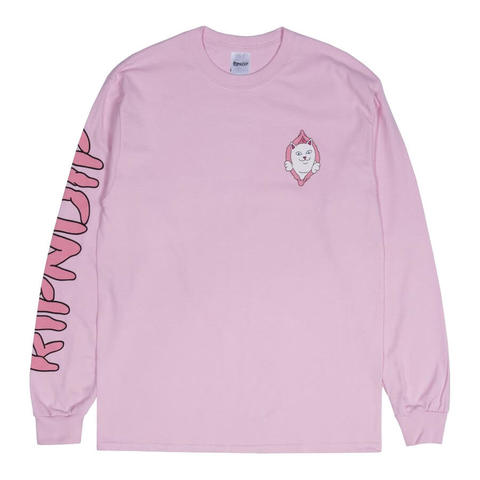 Лонгслив RIPNDIP Found It (Light Pink)