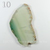 Подвеска Срез Агата, цвет - прозрачно-зеленый, 57-82 мм (№10 (86х50 мм)(ЦАРАПИНА))