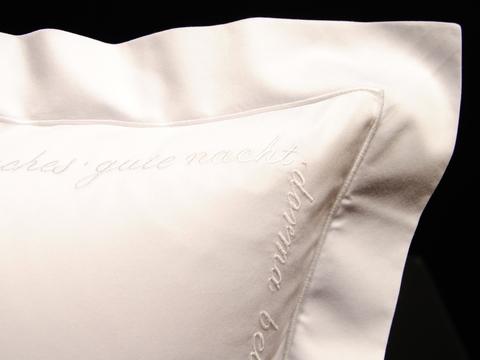 Наволочка для валика 15х40 Christian Fischbacher Luxury Nights Sweet Dreams 557 белая