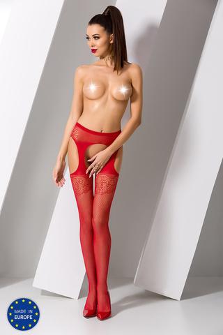 Красные чулки сетка с поясом эротические