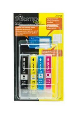 НАНО-картриджи BURSTEN NANO 1 для принтеров HP использующих картриджи HP 178 / 920 / 655 x 4 шт. Без чипов!