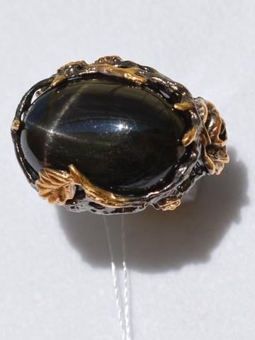 Шелли (серебряное кольцо с позолотой)