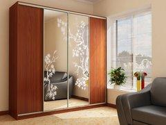 Шкаф четырехдверный, ширина 320 см (ЛДСП)