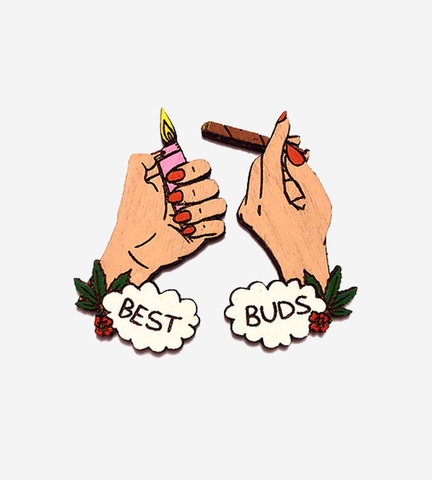 Брошь Best Buds