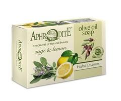 Мыло оливковое с шалфеем и лимоном Aphrodite 100 гр