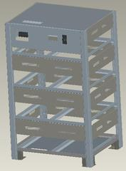 Железный шкаф для АКБ Gewald Electric B32 - фото 1