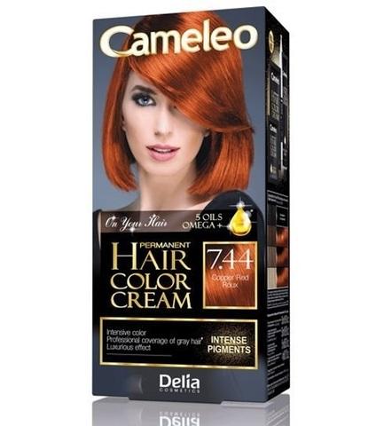 Delia Cosmetics Cameleo Крем-краска для волос тон 7.44 медно-рыжий