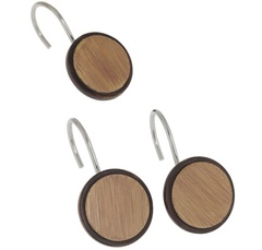 Набор из 12 крючков для шторки Carnation Home Fashions Buttons