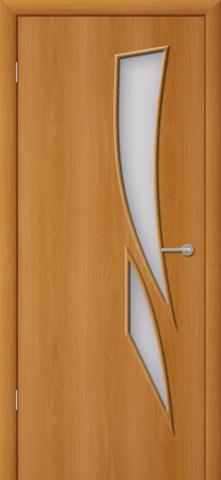 Дверь Фрегат ПО-012, матовое, цвет миланский орех, остекленная