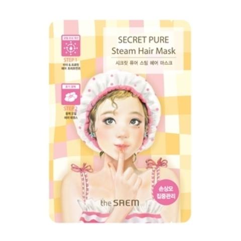THE SAEM Secret Pure Маска паровая для поврежденных волос Secret Pure Steam Hair Mask 15гр/5гр