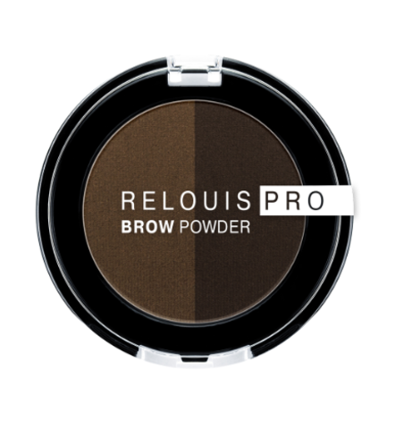 RELOUIS Тени для бровей PRO Brow Powder тон 03 Dark Brown