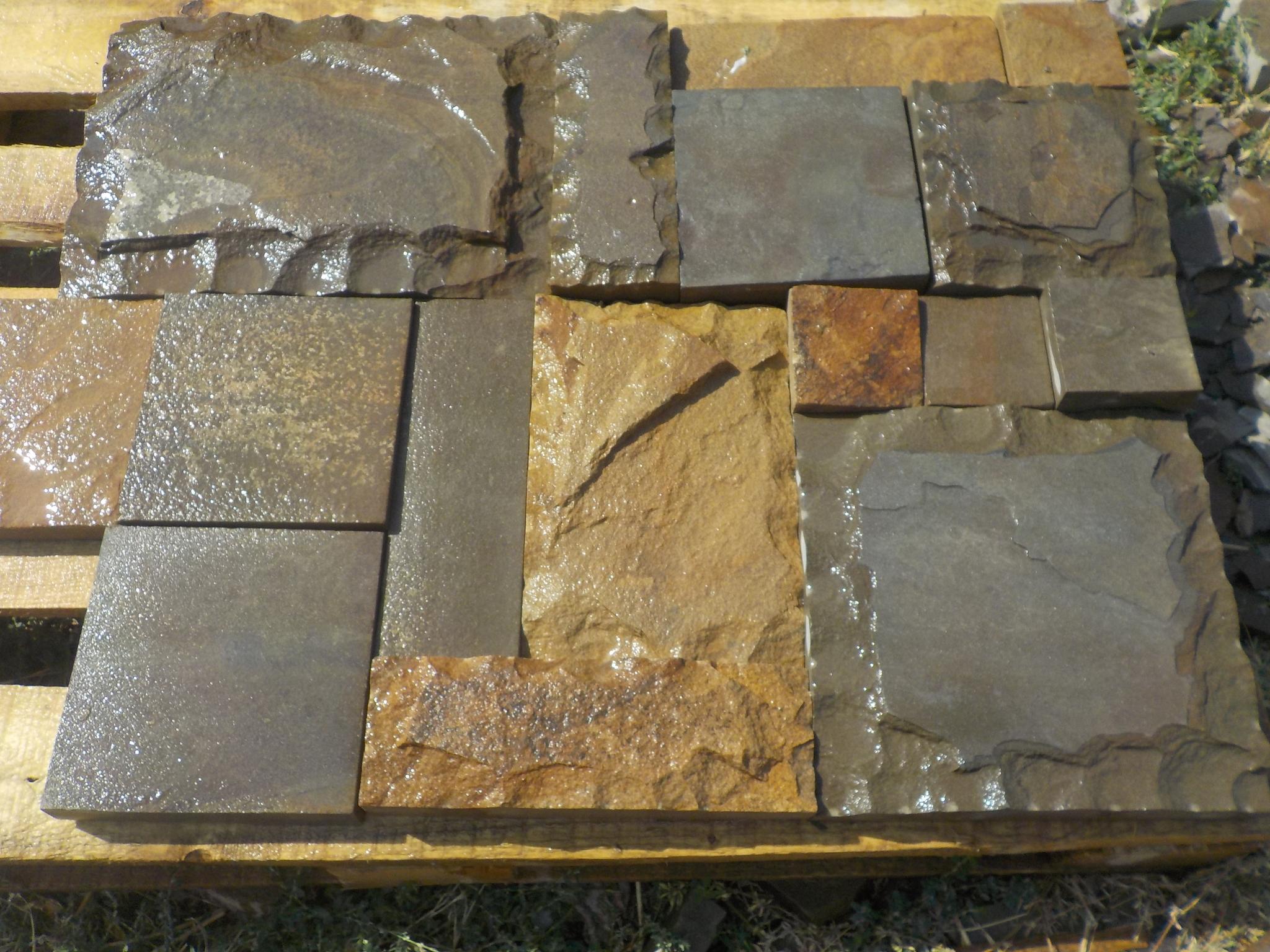Плитка песчаник пиленный рустованный Набор BackYard мокрая