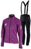 Лыжный костюм женский ST Pro Dressed purple с лямками