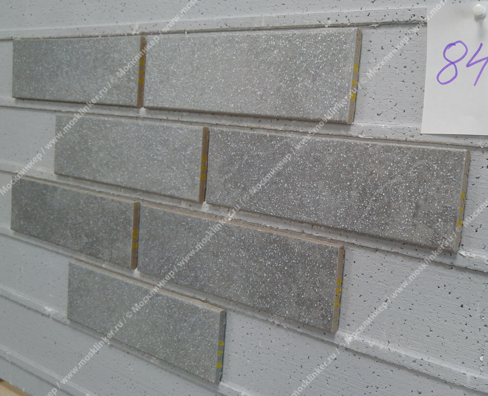 Stroeher, плитка-клинкер под кирпич, цвет 840 grigio, серия Keravette shine, glasiert, глазурованная, гладкая, 240x71x8