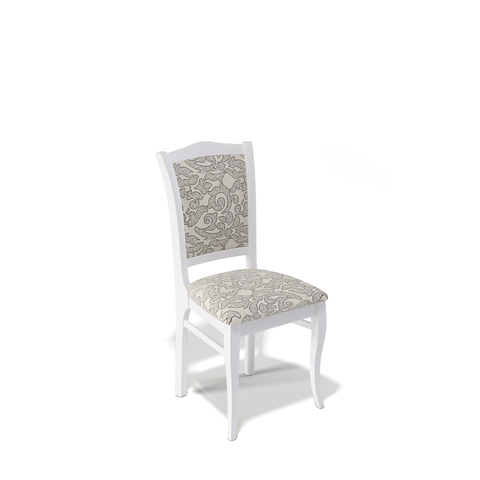 стул Kenner 111С, белый/карамель