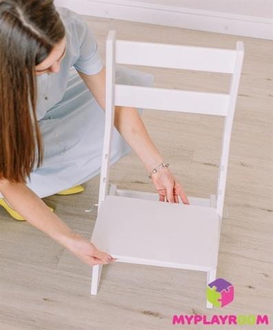 Растущий стульчик, белый 9