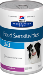 Ветеринарный корм для собак Hill`s Prescription Diet d/d, при пищевых аллергиях, с уткой