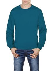 30570-9 футболка мужская дл. рукав, бирюзовая