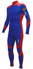 Раздельный лыжный гоночный комбинезон Ray Next RUS Blue-Red-White