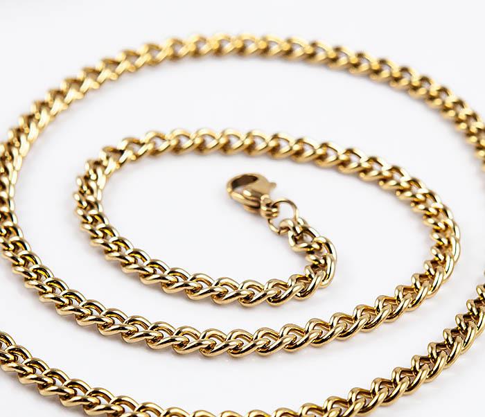 Spikes, Стальная цепочка «Spikes» из стали золотистого цвета (50 см)